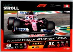 2021 Topps Formule 1 Turbo Attax Live Action 145 Lance Stroll Aston Martin