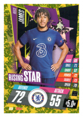 fotbalová kartička Topps Match Attax Champions League 2020-21 Rising Star RS8 Reece James - Chelsea FC