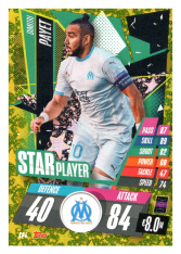fotbalová kartička Topps Match Attax Champions League 2020-21 Star Player SP4 Dimitri Payet - Olympique de Marseille