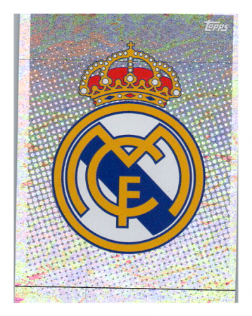 2020-21 Topps Champions League samolepka RMA1 Logo Real Madrid C.F.