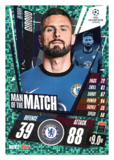 fotbalová kartička 2020-21 Topps Match Attax Champions League Extra Man of the Match MOTM2 Olivier Giroud Chelsea