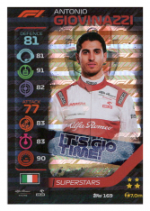 2020 Topps Formule 1 Turbo Attax 169 Race Superstar Antonio Giovinazzi Alfa Romeo