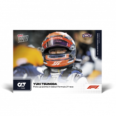 kartička Formule 1 Topps Now 2021  3 Yuki Tsunoda Picks up points in debut Formula 1 AlphaTauri