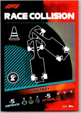 2021 Topps Formule 1 Turbo Attax Strategy Card 202 Race Collision