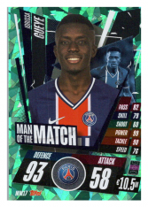 fotbalová kartička Topps Match Attax Champions League 2020-21 Man of the Match MM17 Idrissa Gueye - PSG