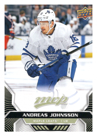 2020-21 UD MVP 120 Andreas Johnsson - Toronto Maple Leafs