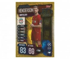 Fotbalová kartička 2019-2020 Topps Match Attax Champions League Club Legend Jordan Henderson  CL2 Liverpool FC