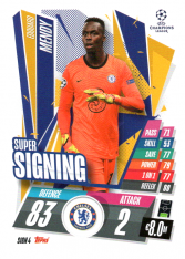 fotbalová kartička 2020-21 Topps Match Attax Champions League SIGN4 Edouard Mendy Chelsea
