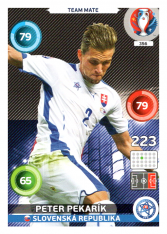 Panini Adrenalyn XL EURO 2016 Team Mate 356 Peter Pekarik Slovensko