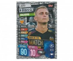 Fotbalová kartička 2019-2020  Topps Champions League Match Attax -  Man of the Match Jasper Cillessen Valencia CF