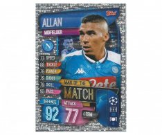 Fotbalová kartička 2019-2020 Topps Match Attax Champions League Man of the Match Allan SSC Neapol
