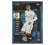 Fotbalová kartička 2019-2020 Topps Match Attax Champions League 100 Club Raphael Varane CLU 2 Real Madrid CF