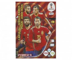 Fotbalová kartička Panini Adrenalynl XL World Cup Russia 2018 Power 4 403 Spain