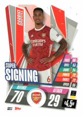 fotbalová kartička 2020-21 Topps Match Attax Champions League SS11 Gabriel Arsenal