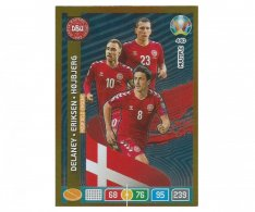 Panini Adrenalyn XL UEFA EURO 2020 Multiple Midfield Engine 440 Delaney Eriksen Hojbjerg Denmark