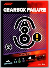 2021 Topps Formule 1 Turbo Attax Strategy Card 200 Gearbox Failure