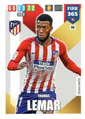 Fotbalová kartička Panini Adrenalyn XL FIFA 365 - 2020 Team Mate 96 Thomas Lemar  Atletico de Madrid