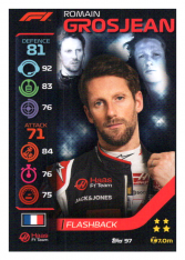 2020 Topps Formule 1 Turbo Attax 97 Flashback Romain Grosjean Haas F1