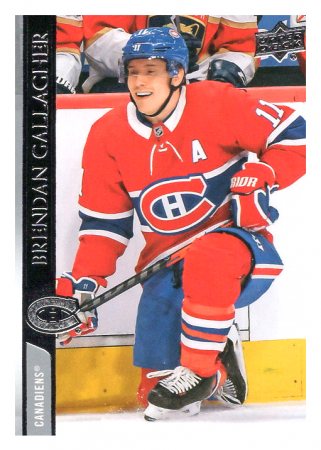 2020-21 UD Series One 97 Brendan Gallagher - Montreal Canadiens
