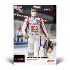 kartička Formule 1 Topps Now 2021  2 Mick Schumacher Debut race in F1 HAAS
