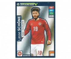 Fotbalová kartička Panini Adrenalyn XL Road to EURO 2020 -  Fans Favourite - Lasse Schone - 241