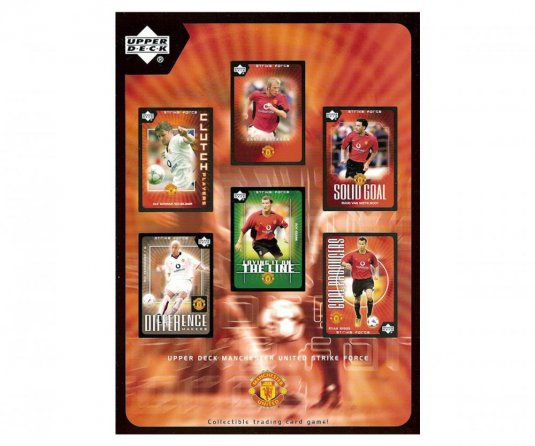 2003 Upper Deck Manchester United Strike Force SG12 Solid Goal David Beckham