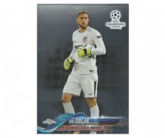 Fotbalová kartička Topps Chrome 2017-18 Champions League 57 Jan Oblak – Club Atlético De Madrid