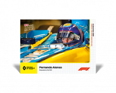 kartička Formule 1 Topps Now 25 Fernando Alonso R25 Renault DP World FT