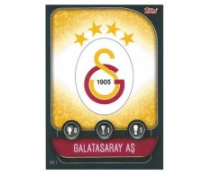 Fotbalová kartička 2019-2020 Topps Match Attax Champions League znak Galatasaray AS GAL1