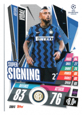fotbalová kartička 2020-21 Topps Match Attax Champions League SIGN6 Arturo Vidal FC Inter Milan