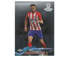 Fotbalová kartička Topps Chrome 2017-18 Champions League 13 Saúl – Club Atlético De Madrid