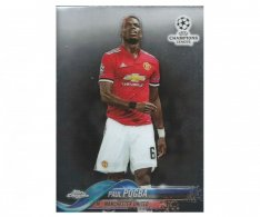 Fotbalová kartička Topps Chrome 2017-18 Champions League 59 Paul Pogba – Manchester United