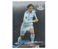 Fotbalová kartička Topps Chrome 2017-18 Champions League 38 Luka Modric – Real Madrid CF