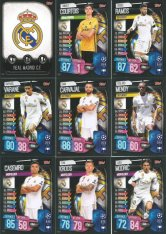 2019-20 Topps Match Attax Champions League Týmový set Real Madrid CF