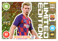 Panini Adrenalyn XL FIFA 365 2021 Limited Edition Frankie De Jong FC Barcelona