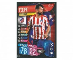 Fotbalová kartička 2019-2020  Topps Champions League Match Attax - Felipe - Atletico Madrid 13