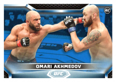 2020 Topps UFC Knockout 32 Omari Akhmedov RC - Middleweight /75