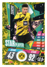 fotbalová kartička Topps Match Attax Champions League 2020-21 Star Player SP11 Jadon Sancho - Borussia Dortmund
