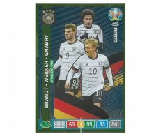 Panini Adrenalyn XL UEFA EURO 2020 Multiple Attacking Trio 448 Brandt Werner Gnabry Germany