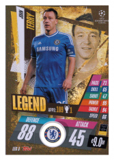 fotbalová kartička Topps Match Attax Champions League Match Attax Legend LEG3 John Terry Chelsea FC