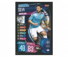 Fotbalová kartička 2019-2020  Topps Champions League Match Attax - Manchester City - David Silva 15