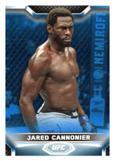 2020 Topps UFC Knockout 46 Jared Cannonier - Light Heavyweight /75