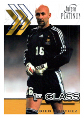 2001 Futera Platinum 1st Class 1 Fabien Barthez France