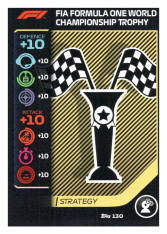2020 Topps Formule 1 Turbo Attax 130 Strategy card World Championship Winning Trophy