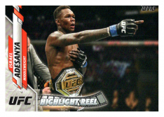 2020 Topps UFC 100 Israel Adesanya - Middleweight HR