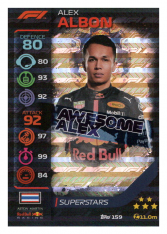 2020 Topps Formule 1 Turbo Attax 159 Race Superstar Alex Albon Aston Martin Red Bull