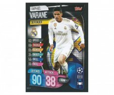 Fotbalová kartička 2019-2020  Topps Champions League Match Attax - Real Madrid CF - Raphael Varane 4