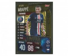 Fotbalová kartička 2019-2020 Topps Match Attax Champions League Limited Edition GOLD Kylian Mbappé LE11