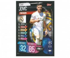 Fotbalová kartička 2019-2020  Topps Champions League Match Attax - Real Madrid CF -  Luka Jovic 11