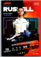 2021 Topps Formule 1 Turbo Attax Quality Qualifers 169  George Russell Williams